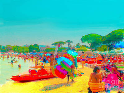 Digital Art - Palermo Beach Toys by Debra Chmelina