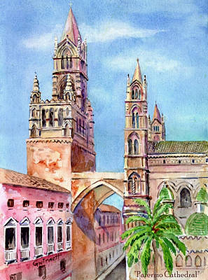 Painting - Palermo Cathedral by Kathleen  Gwinnett