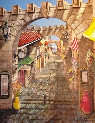 Shopping Center Painting - Palermo Italy by Joseph Boysko