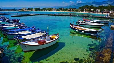 Thomas Kinkade Royalty Free Images - Palermo Village Fleet Royalty-Free Image by Tim G Ross