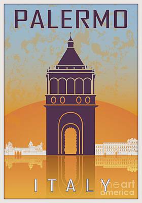 European City Digital Art - Palermo Vintage Poster by Pablo Romero