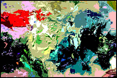 Painting - Palette Abstraction #13 by John Lautermilch