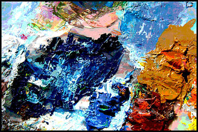 Painting - Palette Abstraction #15 by John Lautermilch