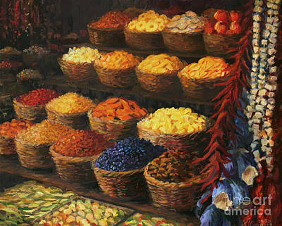 Shops Painting - Palette Of The Orient by Kiril Stanchev