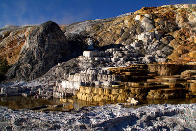 Mammoth Spring Photograph - Palette Spring Terrace by Brian Harig