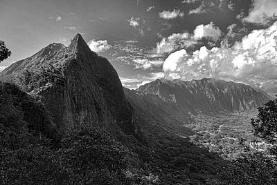 Photograph - Pali Lookout View 4 by Robert Meyers-Lussier