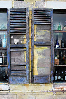 Photograph - Palio Restaurant Shutters 3 by Mary Bedy