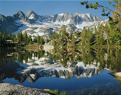 Photograph - 2m6442-palisade Peaks And Summit Lake by Ed  Cooper Photography