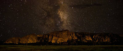 Palisades Under The Cosmos  Art Print by Mike Schmidt