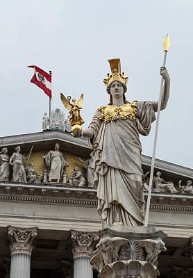 Pallas Athena. Austrian Parliament Building. Art Print