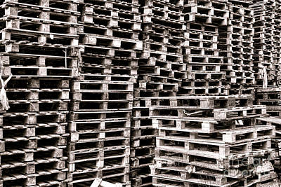 Photograph - Pallets  by Olivier Le Queinec