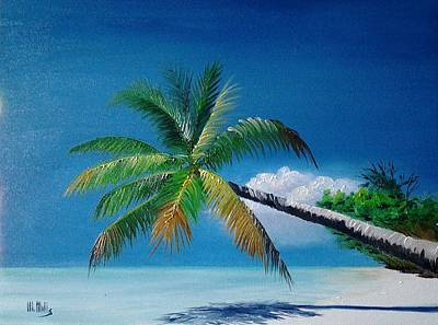 Painting - Palm And Shadow by Maria Mills