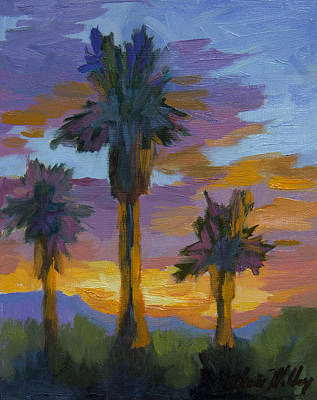 Painting - Palm And Sunset by Diane McClary