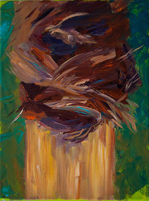 Painting - Palm Bark by Paulette B Wright