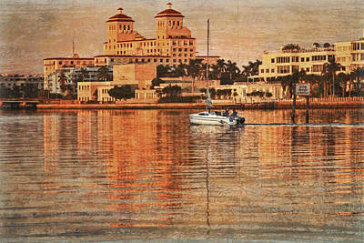 Photograph - Palm Beach At Golden Hour by Debra and Dave Vanderlaan