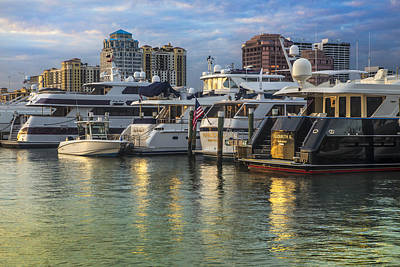 Photograph - Palm Beach Marina by Debra and Dave Vanderlaan