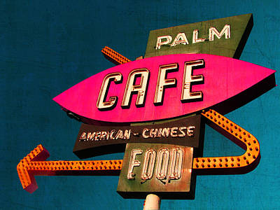 Palm Cafe Art Print by Gail Lawnicki