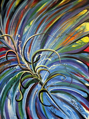 Painting - Palm Crazy by Jan VonBokel