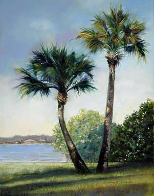 Pastel - Palm Duet by Lorraine McFarland