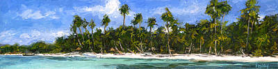 Haleiwa Painting - Palm Groves by Stacy Vosberg