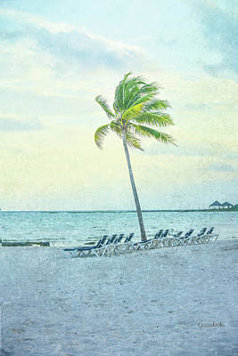 Beach Landscape Painting - Palm II by Ramona Murdock