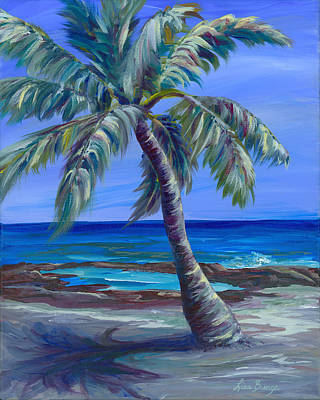 Park Scene Painting - Palm In Paradise by Lisa Bunge