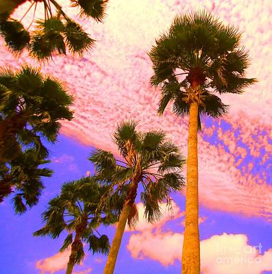 Palm In The Clouds Art Print by Ann Johndro-Collins