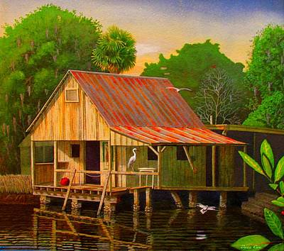 Palm Island Crab House  Art Print by Buzz Coe