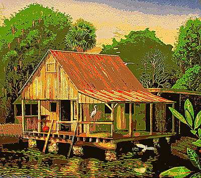 Painting - Palm Island Crab House II by Buzz Coe