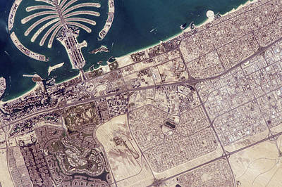 Tourist Industry Photograph - Palm Jumeirah by Nasa