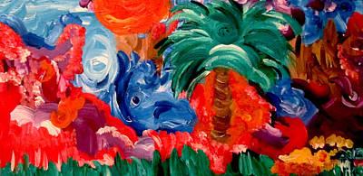 Palm Mountain Art Print