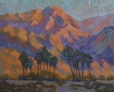 Palm Oasis At La Quinta Cove Art Print by Diane McClary