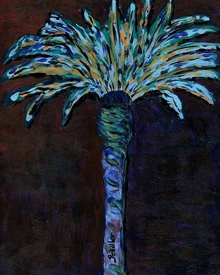 Still Life Painting - Palm On Purple  by Oscar Penalber