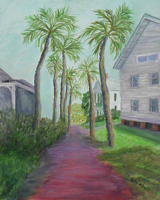 Painting - Palm Row In St. Augustine Florida by Patty Weeks