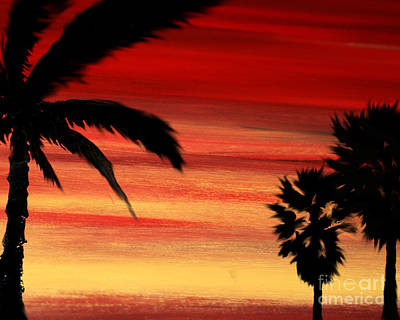 Palm Set Art Print by Ryan Burton