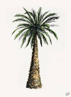 Painting - Bottle Palm Sketch 2 by Walt Foegelle