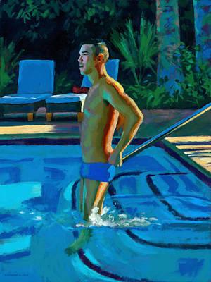 Palm Springs 6pm Art Print by Douglas Simonson