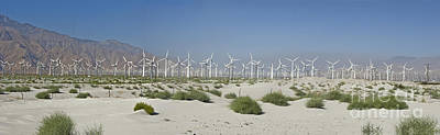 Photograph - Palm Springs Green Energy Wind Turbines Farm San Gorgonio Pass Coachella Valley by David Zanzinger