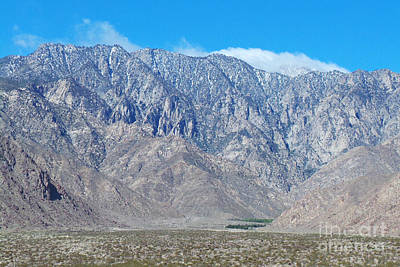 Palm Springs -mount San Jacinto 01 Print by David Wallace Crotty