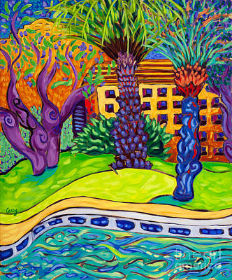 Palm Springs Poolside Left Art Print