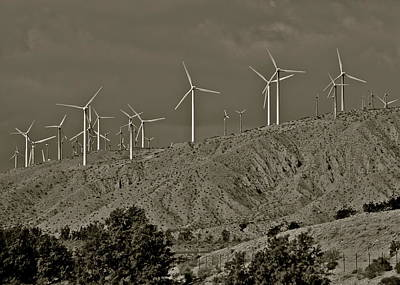 Photograph - Palm Springs Windmills  by Kirsten Giving