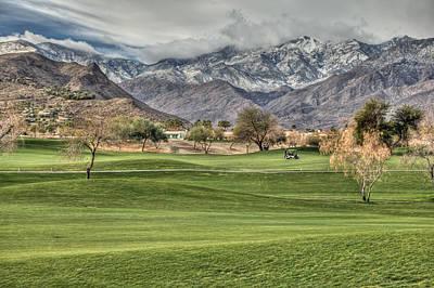 Putt-putt Digital Art - Palm Springs Winter by Matthew Bamberg
