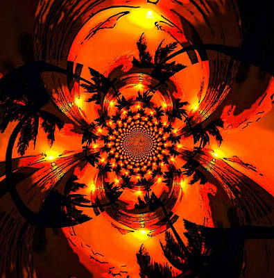 Digital Art - Palm Sun Fractal by Karen Buford