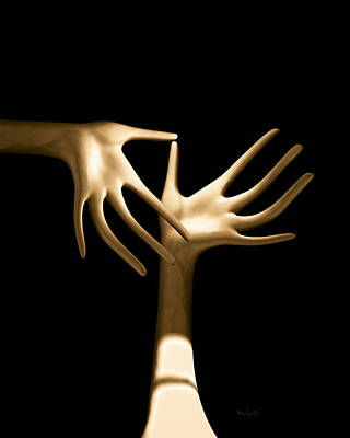 Pop Surrealism Photograph - Palm Tickle by Bob Orsillo