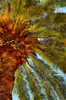 Digital Art - Palm Tree Abstract by Ernie Echols