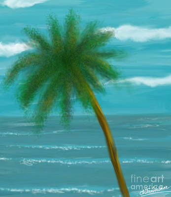 Digital Art - Palm Tree by Chitra Helkar