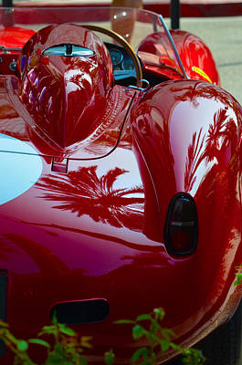 Photograph - Palm Tree Reflections In Ferrari by Deprise Brescia