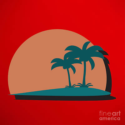 Waves Digital Art - Palm Trees by Berkut