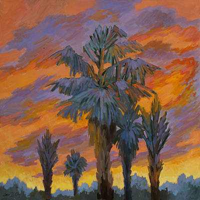 Painting - Palm Trees Can Glow by Diane McClary