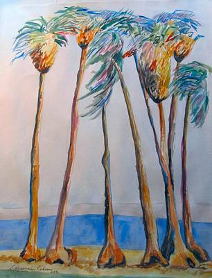Palm Trees Art Print by Esther Newman-Cohen